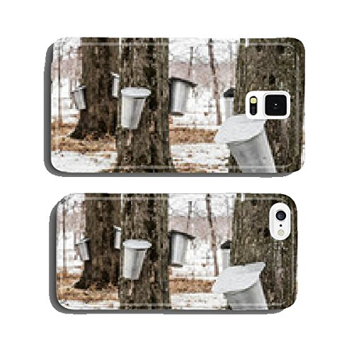 forest-of-maple-sap-buckets-on-trees-cell-phone-cover-case-samsung-s5