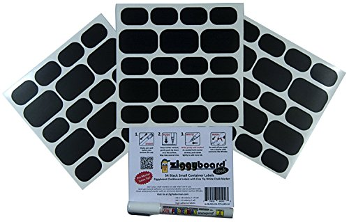 ziggyboard-chalkboard-small-storage-labels-with-extra-fine-1-2mm-white-chalk-marker-54-assorted-shap