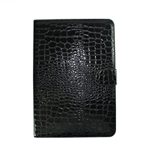 Hk Galaxy Tab 10.1 Case Crocodile Skin Case Protective Case Protector for Samsung Galaxy Tab Gt-p7510 P7500 Black