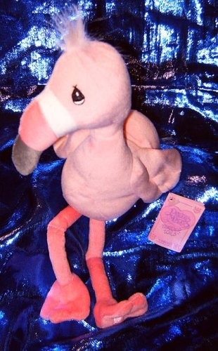 "Precious Moments Tender Tails Pink Flamingo 10"" Plush Beanie - 1"