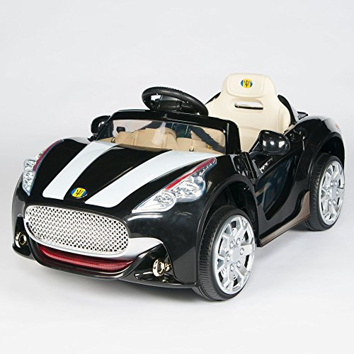 Best Deals! Maserati Style 12V Kids Ride On Car Electric Power Wheels Remote Control Black