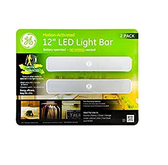 ge 10217 battery operated motion activated 12 inch led light bar 2 pack. Black Bedroom Furniture Sets. Home Design Ideas