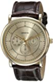Geneva Men's 2427A-GEN Analog Display Quartz Brown Watch