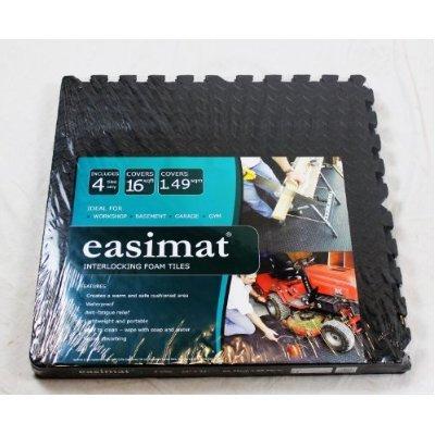 Interlocking Gym Garage Anti Fatigue Flooring Play Mats 128sqft D- Easimat Brand