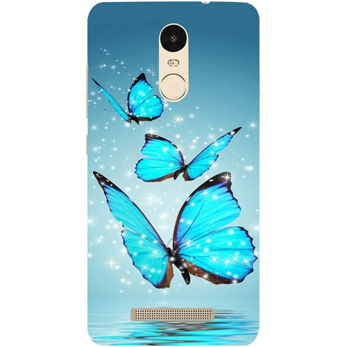 sports shoes 6b1a6 3c826 Casotec Flying Butterflies Design Hard Back Case Cover for Xiaomi Redmi  Note 3