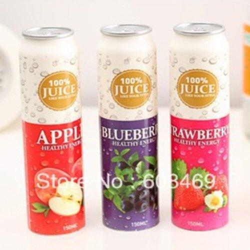 Six Colors Fashion Elements Cartoon Portable Fruit Juice Mini Fan