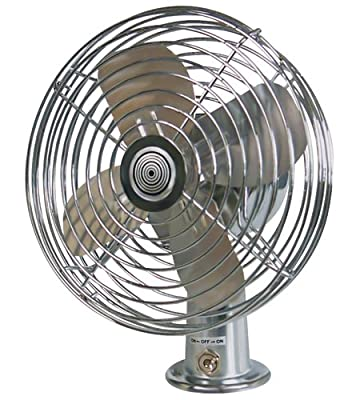 RoadPro RP-1179 12V Heavy Duty Metal 2-Speed Fan