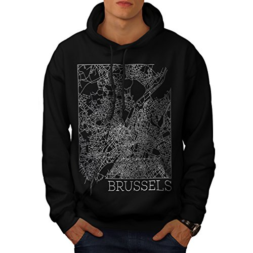 belgium-brussels-map-big-town-men-new-black-m-hoodie-wellcoda