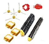 TOP-MALL Accessory for Irobot Roomba 700 760 770 780 790 Series Vacuum Cleaner Replacement Part Kit - Includes 3 Pack Filter, Side Brush, and 1 Pack Bristle Brush and Flexible Beater Brush, 1 Pack Cleaning Tool