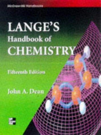 Lange'S Handbook Of Chemistry front-535373