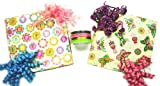 The Gift Wrap Company Birthday Gift Wrapping Set with Flowers and Fun Wrap and Ribbon Kit