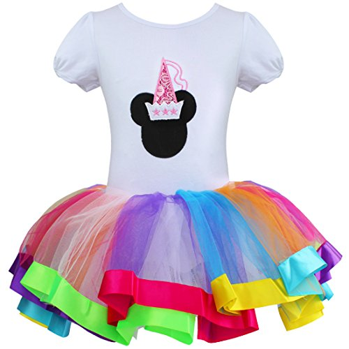TIAOBU Girls Holiday Party Rainbow Tutu Dance Dancewear Dress Costume Dress Up