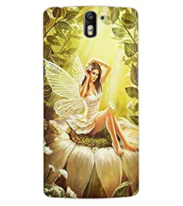 ColourCraft Butterfly Girl Design Back Case Cover for OnePlus One