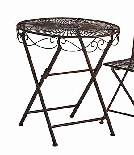 Tisch Turin Metall Dunkelbraun D Ca 70 Cm Gartentisch