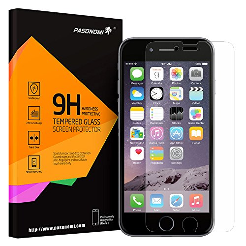 Iphone 6 Plus Screen Protector, Pasonomi® [Tempered Glass Protection] Ultra Thin 9H Hardness 2.5D Round Edge Tempered Glass Screen Protector For Apple Iphone 6 5.5 Inch + Transparent Soft Tpu Cover Case For Iphone 6 Plus