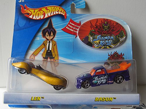 Hot Wheels Shaman King Len & Bason Cars - 1