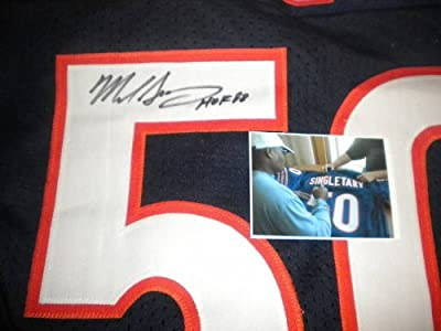 Mike Singletary Chicago Bears Autographed Signed Jersey HOF 98