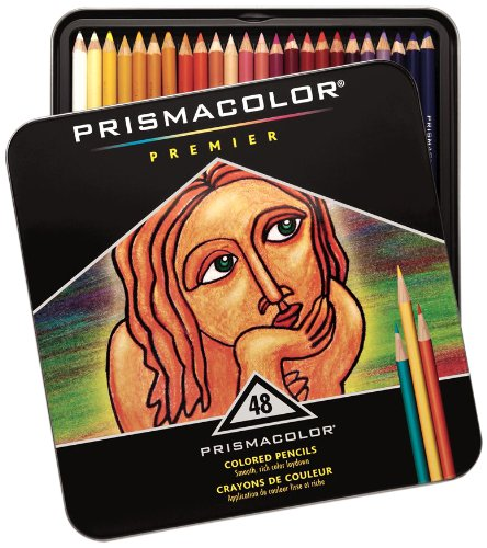 Black Friday 2013 Sanford Prismacolor Premier Colored Pencil Set, 48/Tin