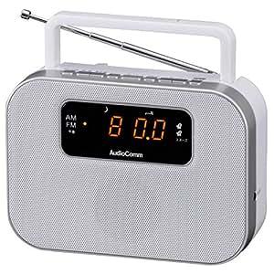 OHM Electron デジタルクロックラジオ ホワイト [RAD-F3357M-W]