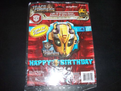 Transformers 'Revenge of the Fallen' Light Up Happy Brithday Banner (1ct)