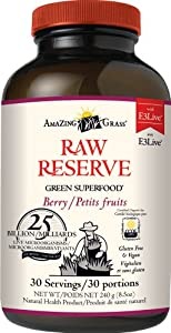 Amazing Grass Green Superfood, Berry Raw Reserve, 8.5 Ounce