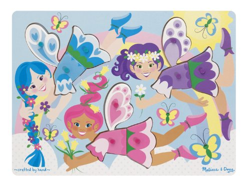 Melissa & Doug Dress-Up Fairies Peg Puzzle