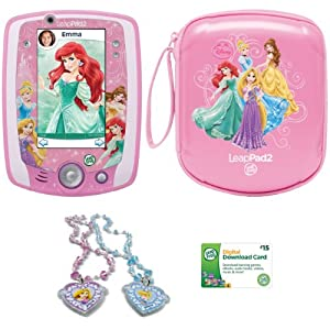LeapFrog LeapPad2 Explorer Disney Princess Exclusive Bundle, Pink