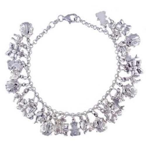 Silver Animal Charm Bracelet