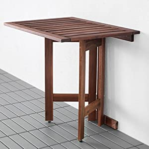 ikea applaro wall folding drop leaft gateleg table brown
