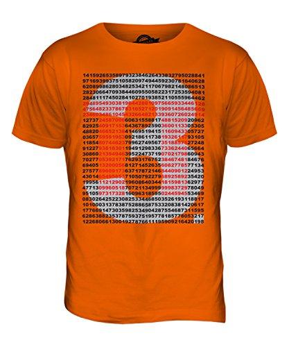 CandyMix Pi Greco Valore T-Shirt da Uomo Maglietta, Taglia Medium, Colore Arancione