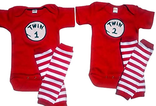 Twin 1 Twin 2 /Thing 1 Thing 2+ Leggings Perfect Pairz USA Made Outfit
