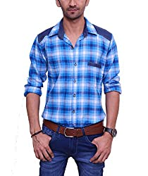 Ballard Men's Casual Shirt (BCS0010_Blue_40)