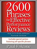 img - for 2600 Phrases for Effective Performance Reviews: Ready-to-Use Words and Phrases That Really Get Results by Falcone [01 May 2005] book / textbook / text book
