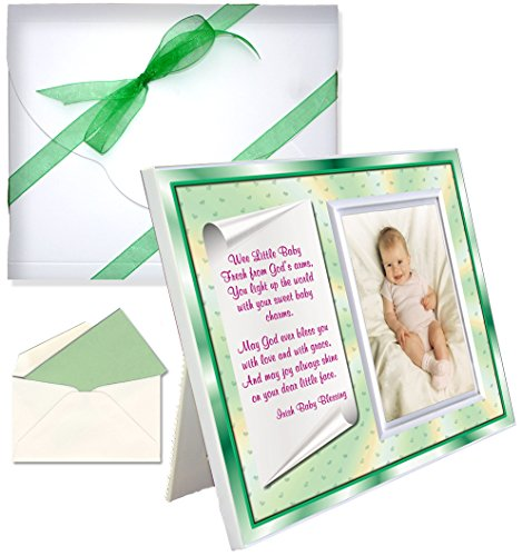 "Baptism Christening Gifts ""Irish Baby Blessing"" Picture Frame"