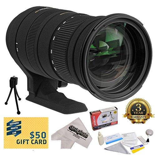 Sigma 50-500Mm F/4.5-6.3 Apo Dg Os Hsm Lens (738306) With 3 Year Extended Lens Warranty For The Nikon D1 D1X D1H D2X D2Xs D2H D2Hs D3 D3X D3S D100 D200 D300 D300S D700 D7000 D7100 D3000 D3100 D3200 D5000 D5100 D5200 D5300 D40 D40X D50 D60 D70 D90 D80 Dslr