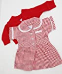 MEDIUM DOLLS SUMMER UNIFORM RED 18-20...