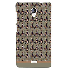 PrintDhaba Cycle Pattern D-1496 Back Case Cover for MICROMAX A106 UNITE 2 (Multi-Coloured)