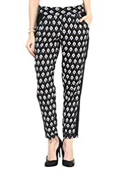 Black Printed Trousers By Magnetic Designs