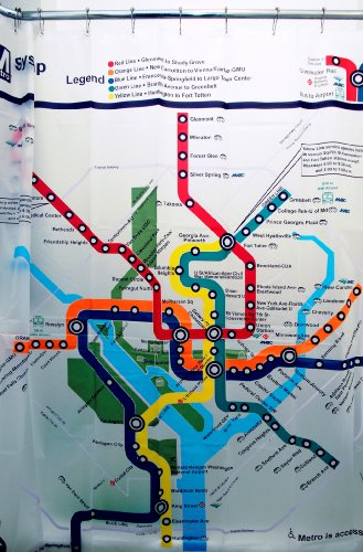 DC Transit Map Shower Curtain (Dc Shower Curtain compare prices)
