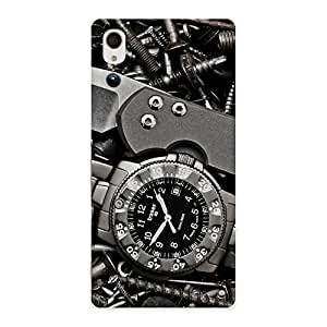 Stylish Knife And Watch Back Case Cover for Xperia M4 Aqua