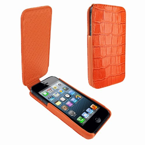 Best Price Apple iPhone 5 / 5S Piel Frama iMagnum Orange Crocodile Leather Cover