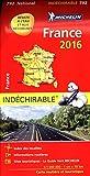 Carte France 2016 Indéchirable Michelin...