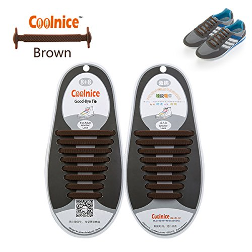 no-tie-elastic-shoelaces-1-pack-by-coolnice-r-for-adult-style-flat-shape-with-brown-colour-for-runni