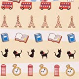 Mini travel Paris London stickers with Masking Tape from Japan