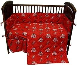 Ohio State 5 Pc Baby Crib Logo Bedding Set