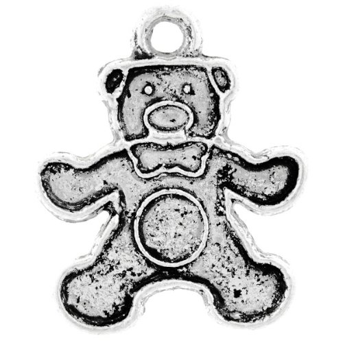 10pcs Antique Tibet Tibetan Silver Animal Bear Charms Pendants 18x15x1.5mm U-TS0688
