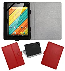 ACM LEATHER FLIP FLAP TABLET HOLDER CARRY CASE STAND COVER FOR DIGIFLIP PRO XT712 TAB RED