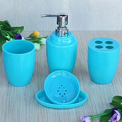 Lidore set of 4 ensemble bath accessories set for Anna s linens bathroom accessories