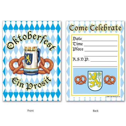 Oktoberfest Invitations (envelopes included)    (8/Pkg)