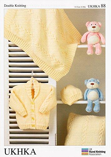 Jacket, Hat, Blanket & Cushion In Baby Dk (Ukhka88) Knitting Pattern front-76939